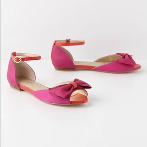 SEYCHELLES Fuchsia Purple Red Bow Sandal Flat